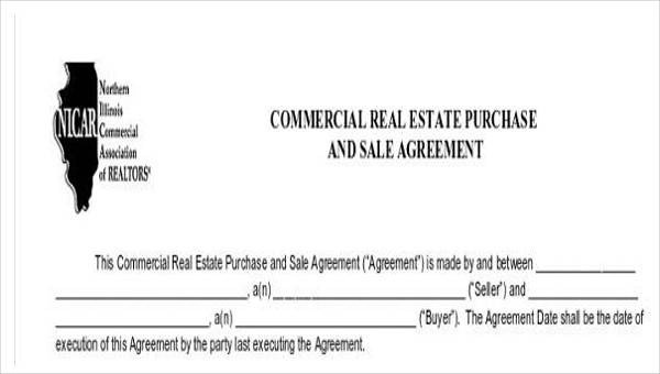 35 Commercial Agreement Examples  Samples Sample Templates - Commercial Real Estate Purchase Agreement