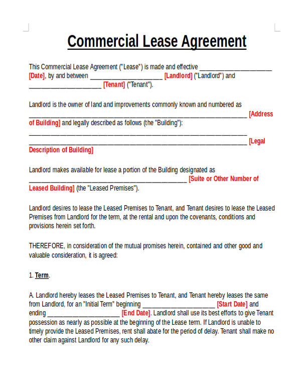 Commercial Agreement FormatCommercial Agreement Format Commercial
