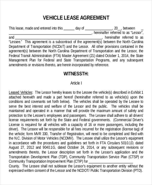 11+ Truck Lease Agreement Samples Sample Templates - commercial lease agreement sample