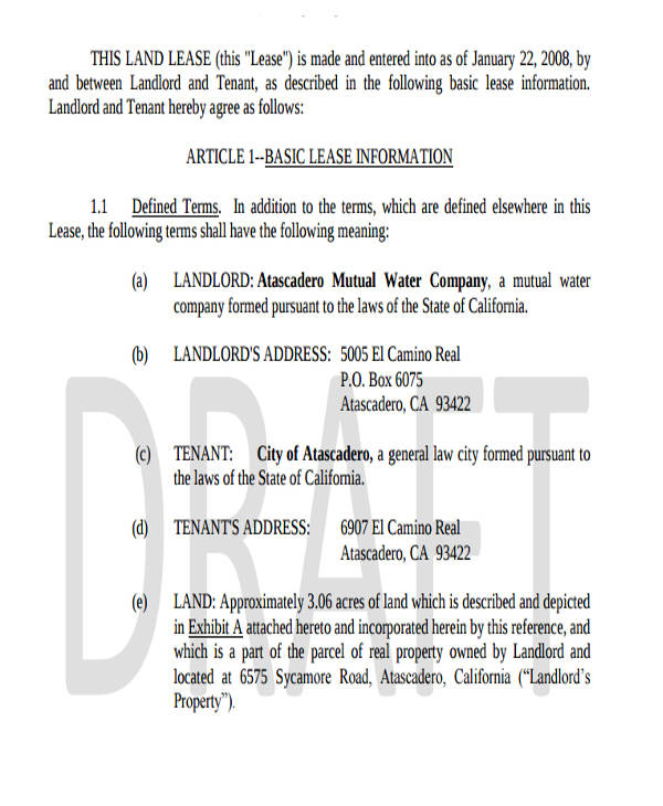 34+ Commercial Lease Agreement Samples - Word, PDF, Pages