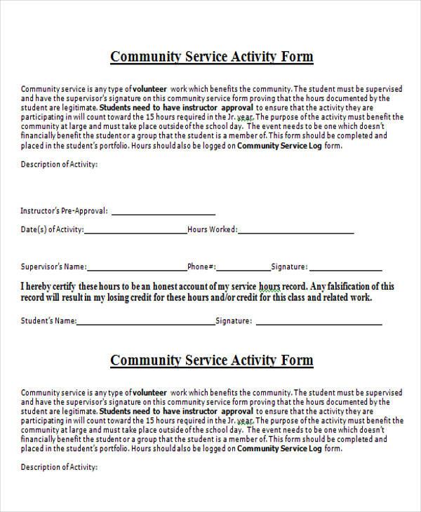 Service Form in Word - service form in word