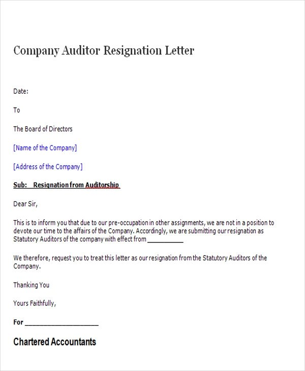 Formal Resignation Letter Draft Professional resumes example online - formal resignation letter