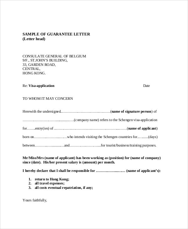 100+  Guarantee Letter Format  Letter Of Direction,Formal - guarantee letter
