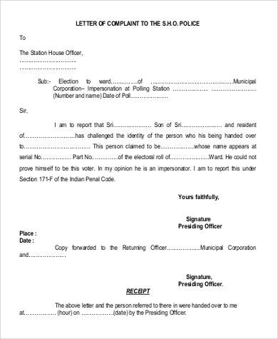 How To Write A Complaint Letter To Your Principal With 22 Complaint Letters In Pdf