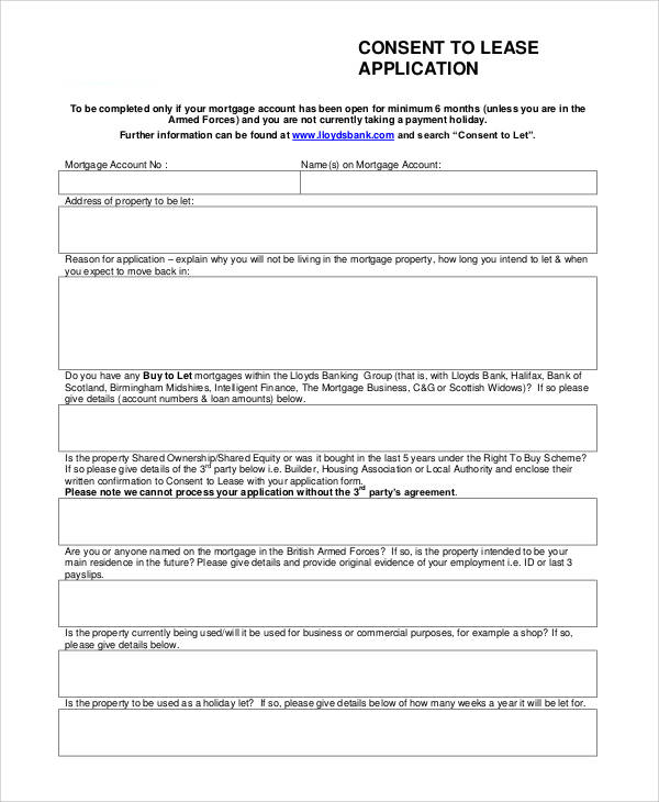 74+ Sample Application Forms in PDF Sample Templates - House Lease Application Form
