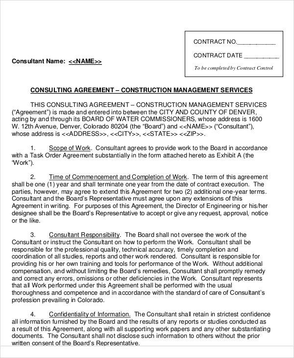 46+ Consulting Agreement Samples - Word, PDF