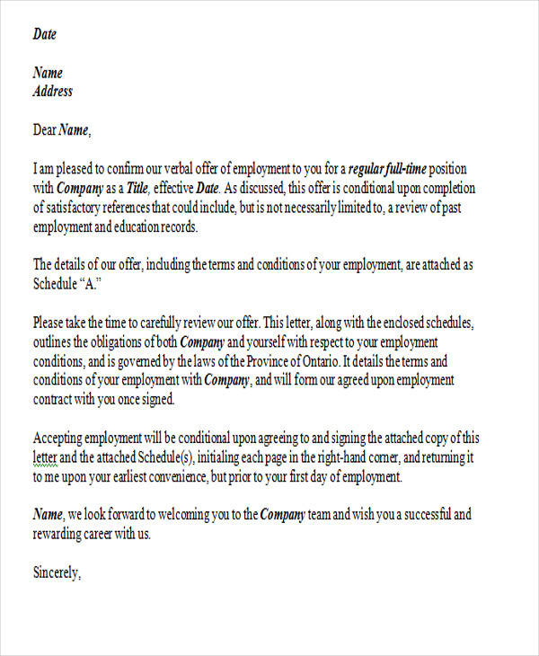 Sample Employment Resignation Letter - 7+ Examples in PDF, Word