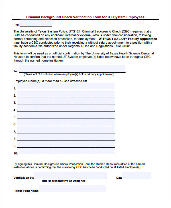 50+ Sample Verification Forms Sample Templates