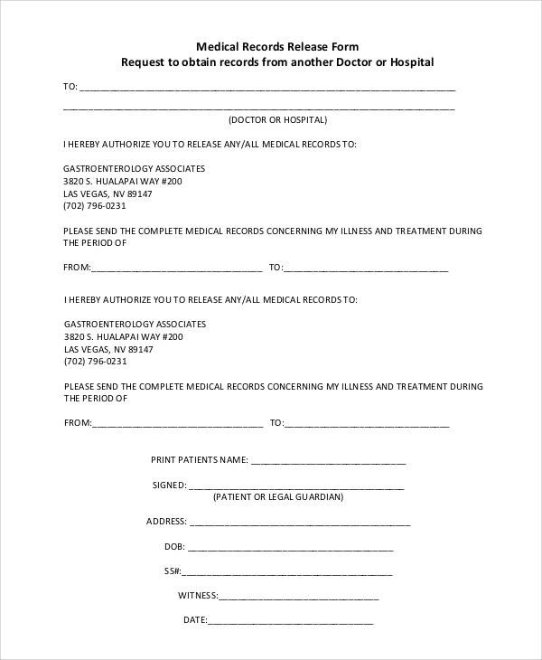 dental release form | efficiencyexperts.us