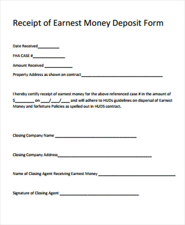 39+ Free Receipt Forms Sample Templates