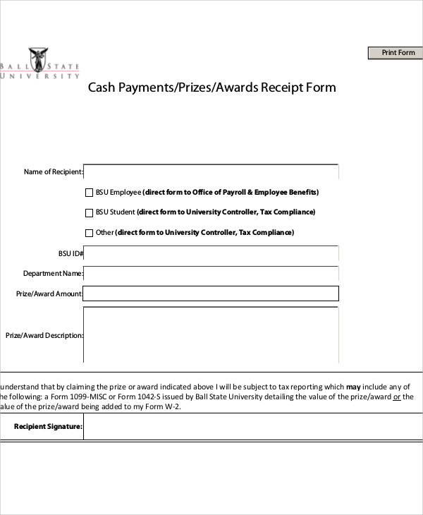 Printable Payment Receipt - payroll receipt