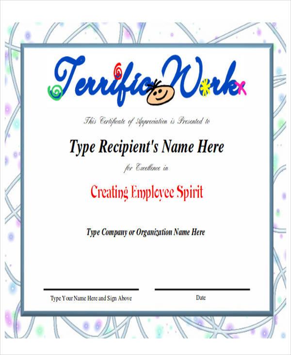 32+ Printable Award Certificates Sample Templates