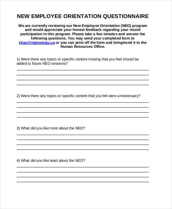 Orientation Feedback Form Student Feedback Forms In Pdf Tical