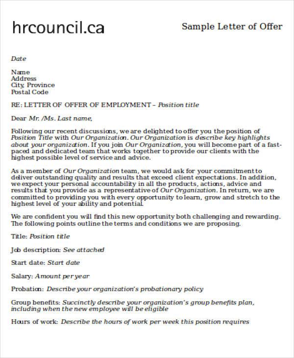 Employee Letter Of Intent - Unitedijawstates