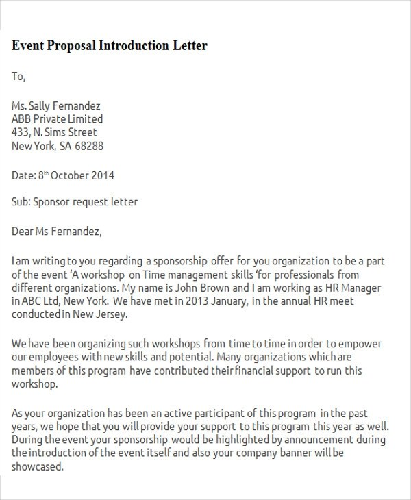 event proposal letter - Militarybralicious - proposal letter for employment