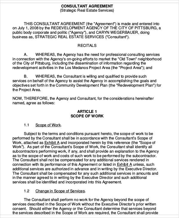 consulting agreement form – Independent Consulting Agreement