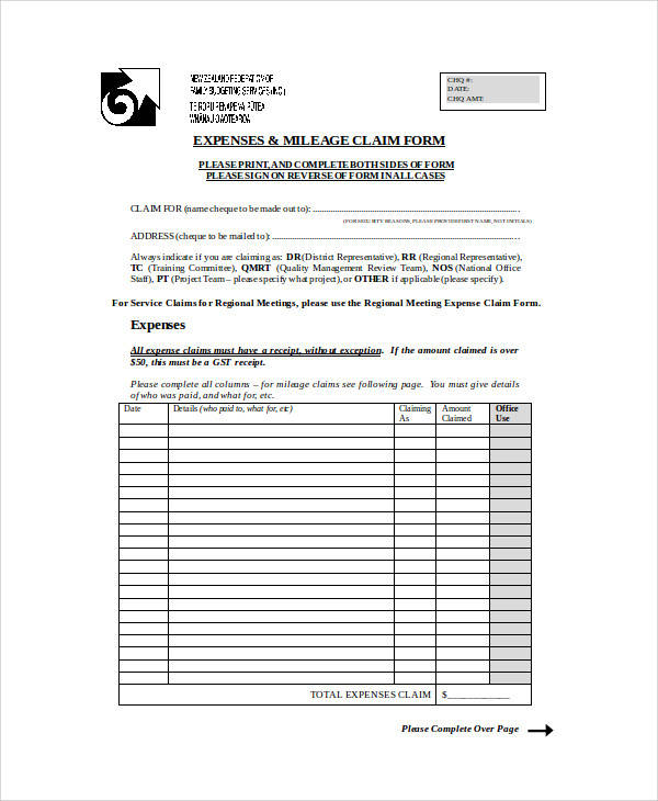 27 Sample Claim Forms in Word