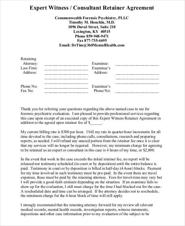 18+ Consulting Agreement Forms - consulting retainer agreement