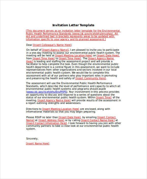 34+ Sample Invitation Letters \u2013 PDF, Word, Apple Pages Sample - invitation letters