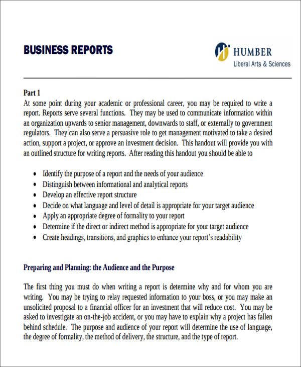 formal business reports - Ozilalmanoof