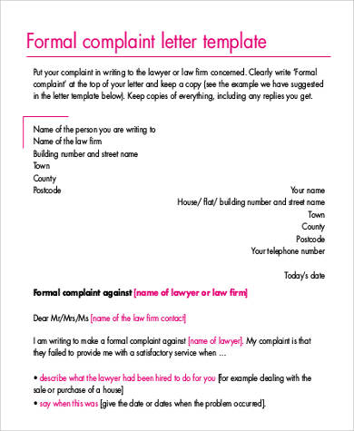 21+ Complaint Letters in PDF Sample Templates