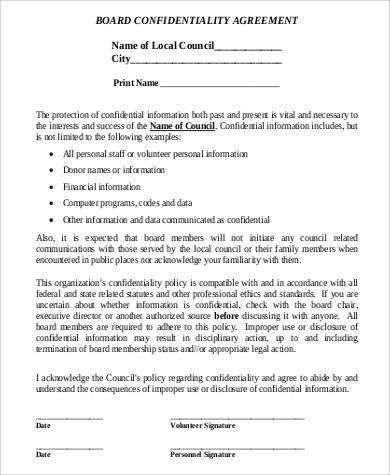 Financial Confidentiality Agreements Customer Protection Agreement - financial confidentiality agreements