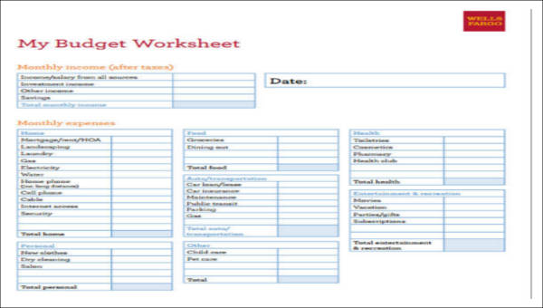 32+ Free Budget Forms