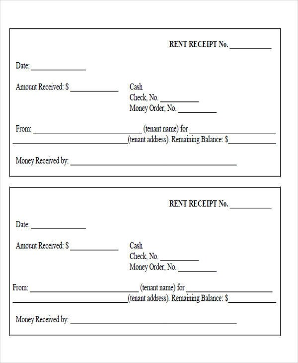 6+ Sample Rent Payment Receipts - Free Sample, Example, Format Download - free printable payment receipts