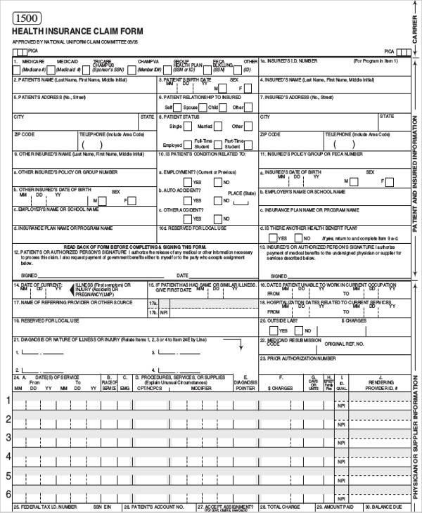 42+ Sample Claim Forms in PDF Sample Templates - claim form in pdf