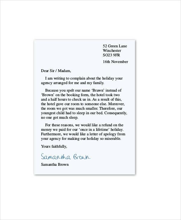 sle letter complaint service - Wwwrule-of-law