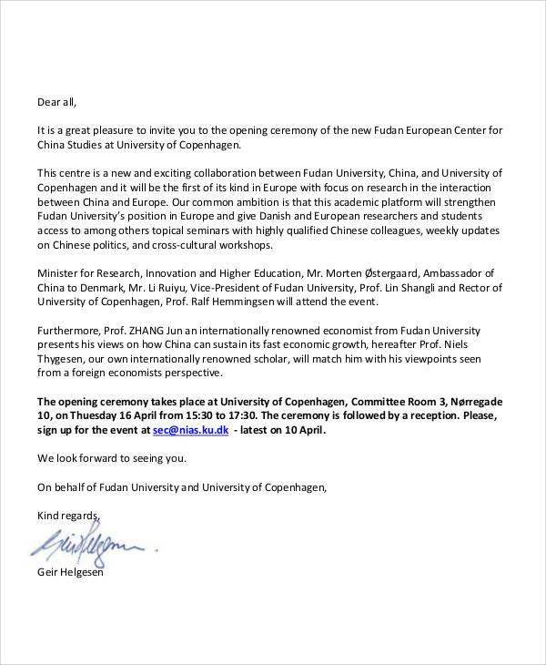 34+ Sample Invitation Letters \u2013 PDF, Word, Apple Pages Sample - invitation letter sample