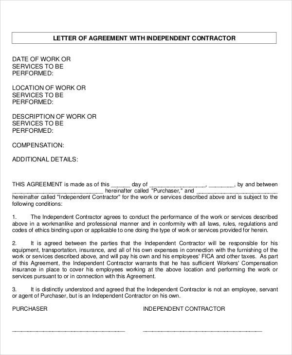 36+ Agreement Letter Examples Sample Templates