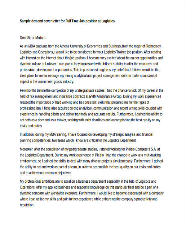 first job cover letter templates