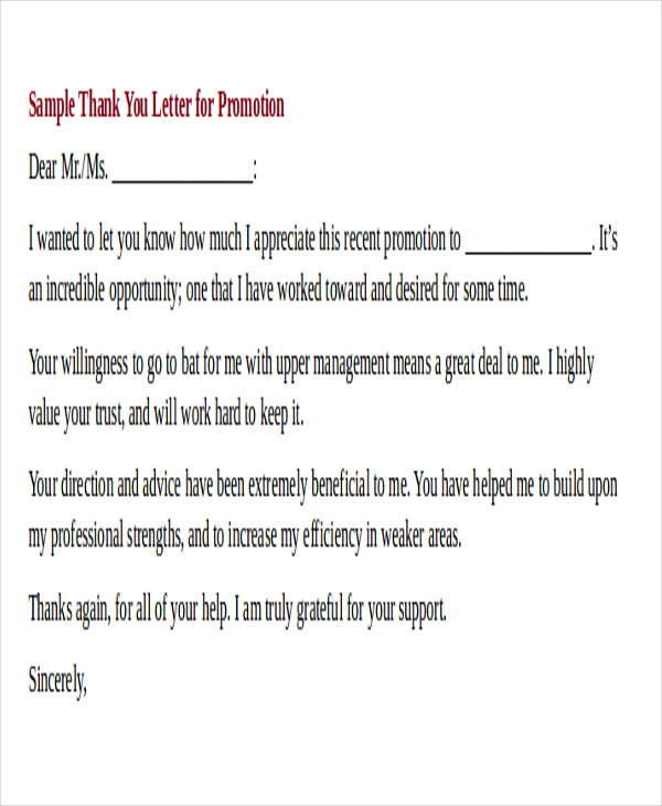 40+ Sample Interview Thank-You Letters Sample Templates