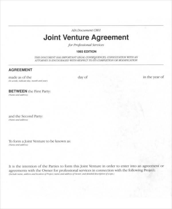 Joint venture agreements sample jobsbillybullockus – Joint Venture Agreements Sample