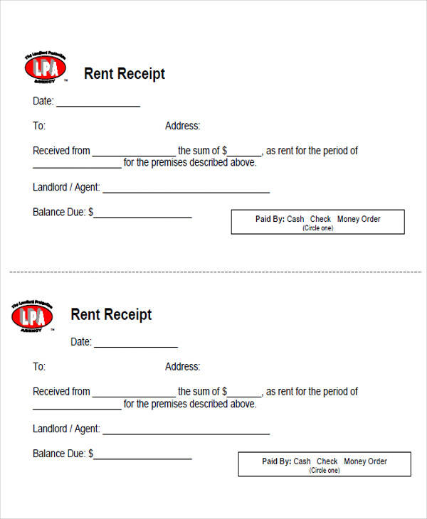 6+ Sample Rent Payment Receipts - Free Sample, Example, Format Download