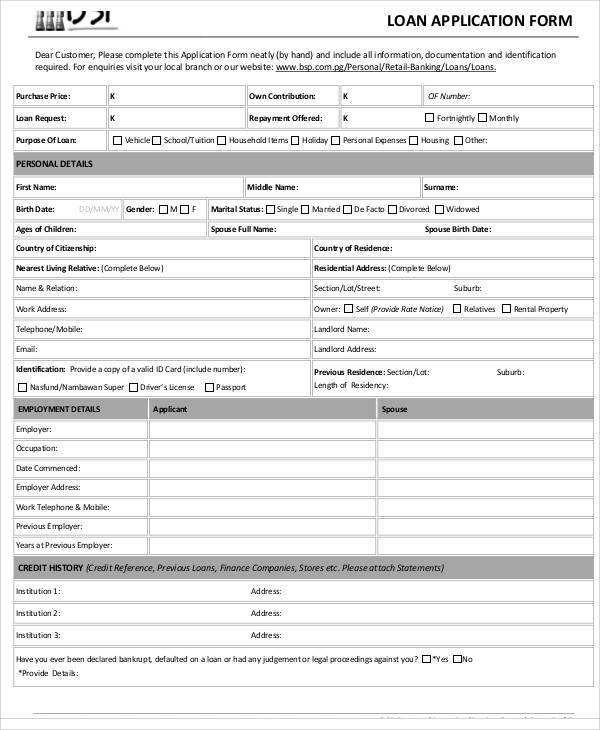 57+ Application Form Formats Sample Templates