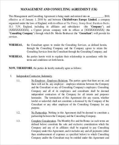 simple consulting agreement - fototango