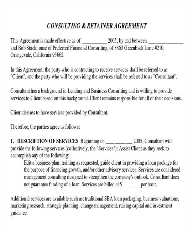 28+ Sample Consulting Agreements in PDF Sample Templates - business consultant agreement