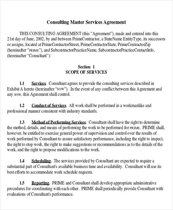 40+ Consulting Agreement Examples - Word, PDF