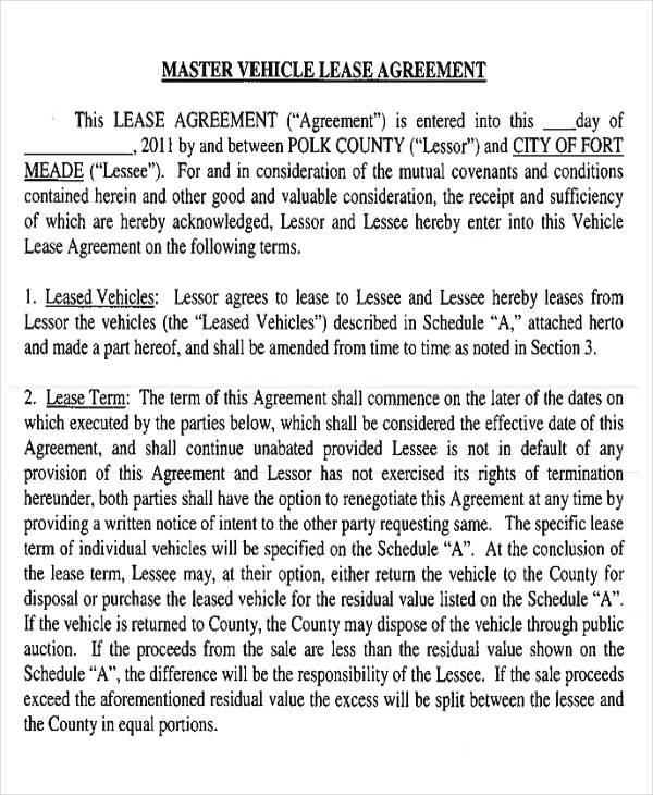Lease Agreement Sample Sample Pennsylvania Lease Agreement - master lease agreement