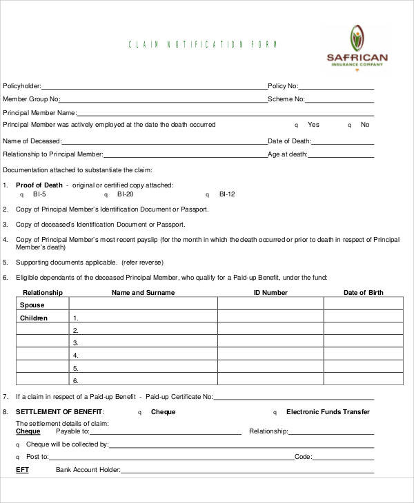 Medicare Claim Form Pdf Download | Liability Release Form Car Accident