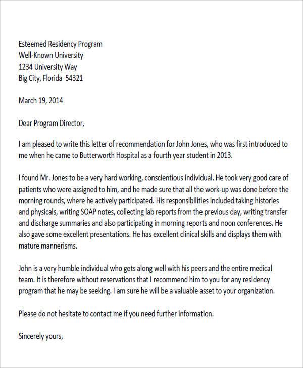 peer letter of recommendation sample - Doritmercatodos