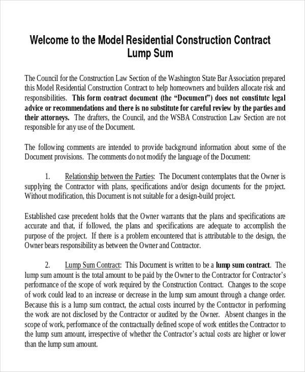 Construction Labour Contract Agreement Sample | Metafora Ejemplos