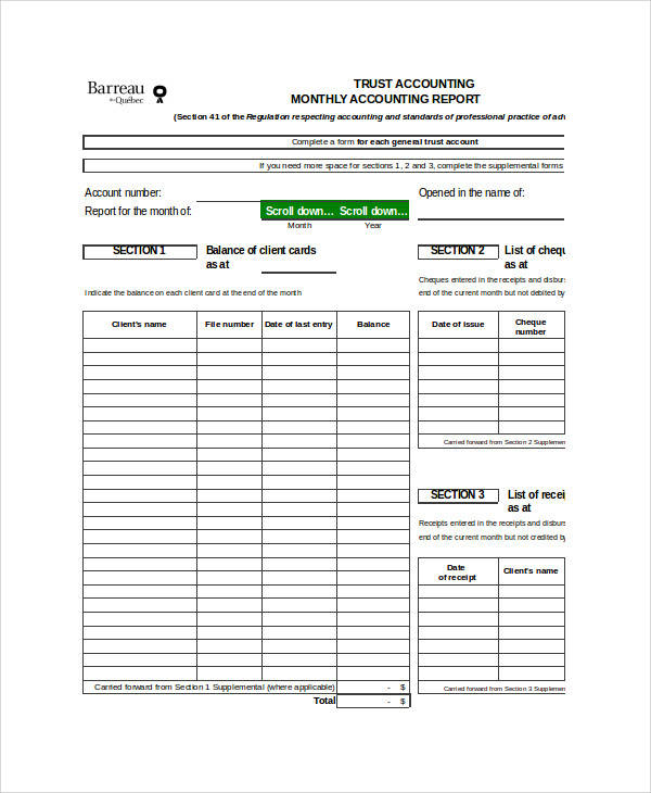 14 Accounting Forms in Excel