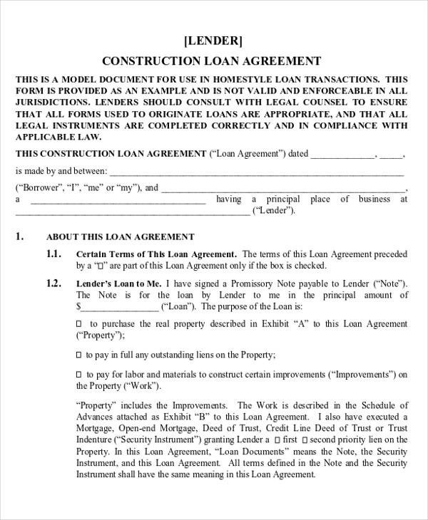 28+ Construction Agreement Forms  Templates - Word, PDF, Pages
