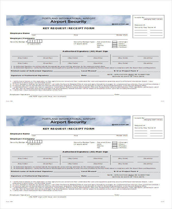 Key Receipt Template Images - Template Design Free Download