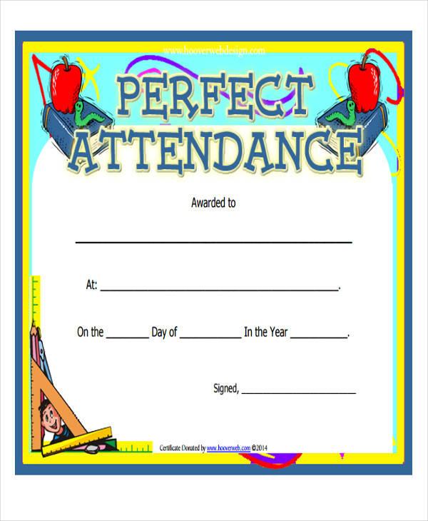 Doc#960720 Perfect Attendance Certificate Template u2013 Perfect - attendance certificate template