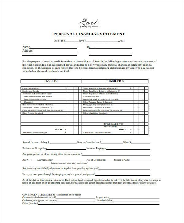 ... Statement Form In Doc   Statement Form In Pdf ...
