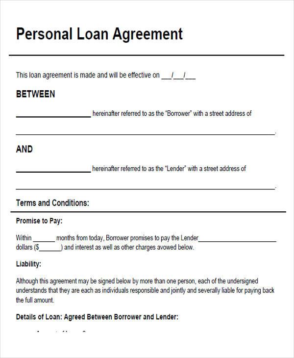 Loan Agreements Between Individuals loan agreement between two – Basic Loan Agreement